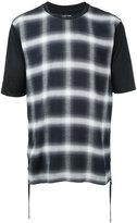Helmut Lang checked print T-shirt - men - Cotton/Rayon - S
