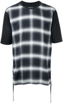 Helmut Lang checked print T-shirt