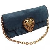 Gucci Navy Suede Clutch bag
