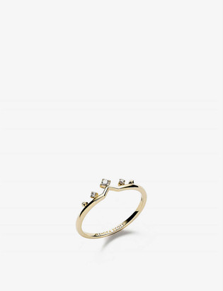 Kendra Scott Michelle 14ct yellow-gold and diamond ring