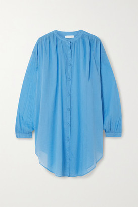 Skin Brea Oversized Cotton-voile Kaftan - Light blue