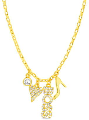 Lesa Michele Lesa Michelle Multi Charm Necklace