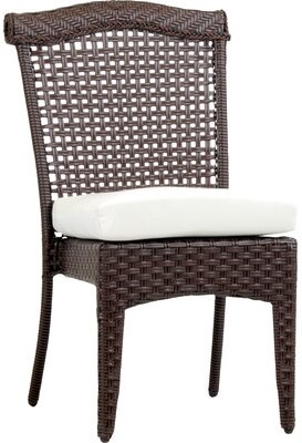 Bloomsbury Market Allerdale Stacking Patio Dining Chair with Cushion Color: Pool