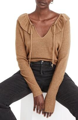 Madewell Catherine Ruffle Knit Sweater