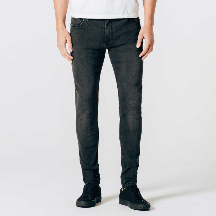 DSTLD Skinny Jeans in Stretch Faded Black