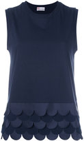 RED Valentino scalloped hem top - women - Cotton/Polyester - S