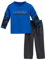 Under Armour Baby Boys Two-Piece Cracked Slider Tee and Sweatpants Set