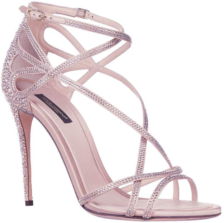 Dolce & Gabbana Crystal Embellished Sandals 85