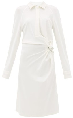 Bottega Veneta Gathered Jersey Shirtdress - White