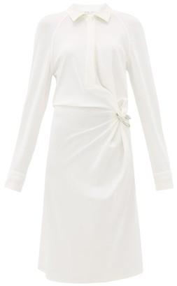 Bottega Veneta Gathered Jersey Shirtdress - Womens - White