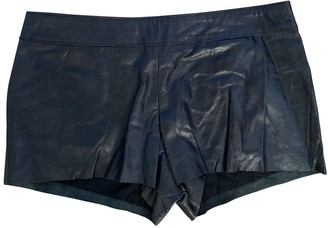 Twin-Set Twin Set Black Leather Shorts for Women