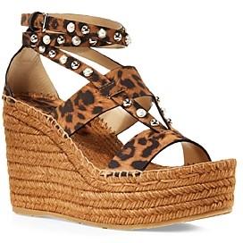 Jimmy Choo Women's Danica 110 Embellished Wedge Platform Espadrille Sandals
