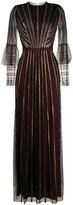 Temperley London beaded flared evening dress
