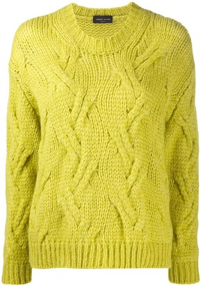 Roberto Collina Braided Cable Stitch Jumper