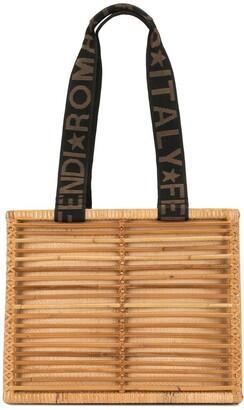 Fendi Pre-Owned Raffia Tote Bag
