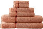 Asstd National Brand Pacific Coast TextilesTM Velour Border 6-pc. Bath Towel Set