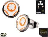 Disney Star Wars Women's Stainless Steel Episode 7 BB8 Lead Hero Droid Stud Earrings