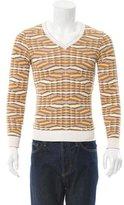 Missoni Patterned Knit V-Neck Sweater