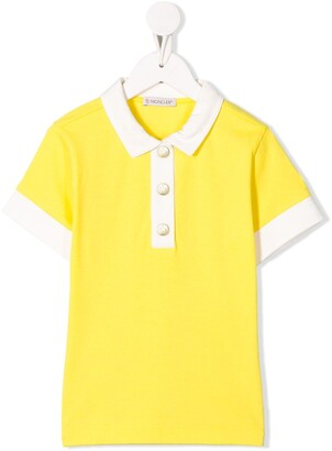 Moncler Enfant Two-Tone Polo Shirt