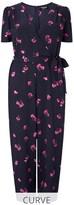 Fashion Union Curve Floral Print Wrap Front Jumpsuit