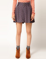 Free People Skirt Short in Ditsy Floral Print