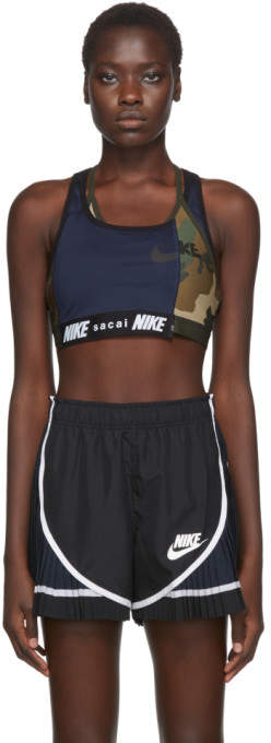 Nike Navy Sacai Edition NRG Ga NI-11 Sports Bra