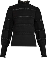 Etoile Isabel Marant Lace-trimmed long-sleeved cotton top
