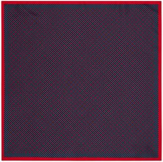 Gucci GG and shamrocks silk pocket square
