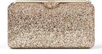 Jimmy Choo Glitter Ellipse Box Clutch Bag