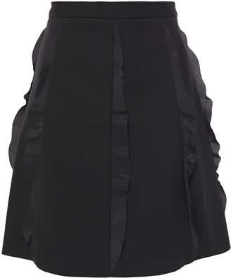 RED Valentino Flared Ruffle-trimmed Twill Mini Skirt