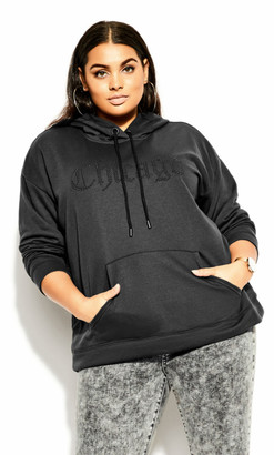 City Chic At Ease Hoodie - charcoal