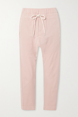Bassike Cropped Cotton Track Pants - Pink