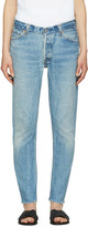 RE/DONE Re-done Blue Relaxed Crop Jeans