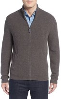 John W. Nordstrom Ribbed Cashmere Zip Cardigan