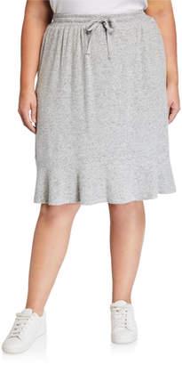 Bobeau Plus Size Renata Ruffle Hem Skirt