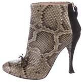 Nina Ricci Python Round-Toe Ankle Boots