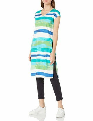 Joan Vass Women's High Slit Tabard Top