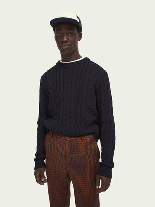Scotch & Soda Cable-knit crewneck pullover | Men