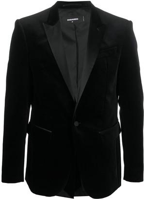 DSQUARED2 Single-Breasted Velvet Blazer