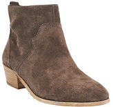 Sole Society As Is Suede Ankle Boots w/ Stacked Heel - Carson
