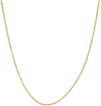 Saks Fifth Avenue 14K Yellow Gold Solid Glitter Rope Chain Necklace