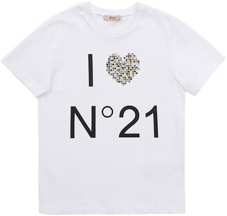 N°21 Logo Print Cotton Jersey T-shirt