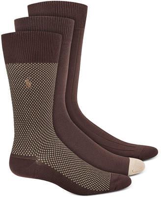 Polo Ralph Lauren Men Birdseye Dress Socks, 3 Pack
