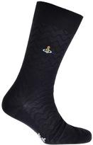 Vivienne Westwood Zig Zag Socks Navy
