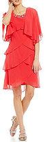 S.L. Fashions 2-Piece Tiered Jacket Dress