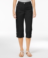 Karen Scott Petite Twill Capri Pants, Created for Macy's