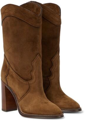 Saint Laurent Kate 90 suede boots