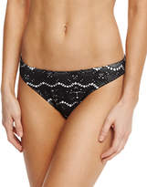 Letarte Skull Lace Hipster Swim Bottom