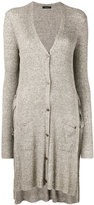 Roberto Collina long cardigan - women - Linen/Flax/Viscose - S