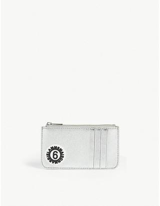 Maison Margiela metallic card holder